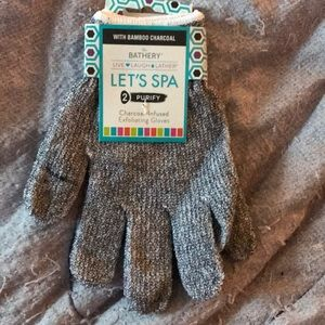 New never used exfoliating bath gloves